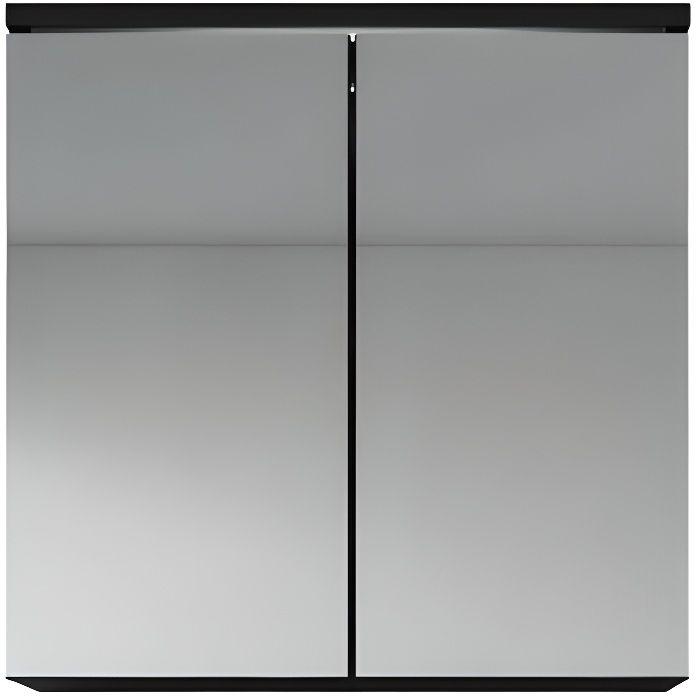 Superieur Meuble à Miroir 60x59 Cm Toledo Noir   Miroir Armoire Miroir Salle De Bains  Verre Armoire De Rangement