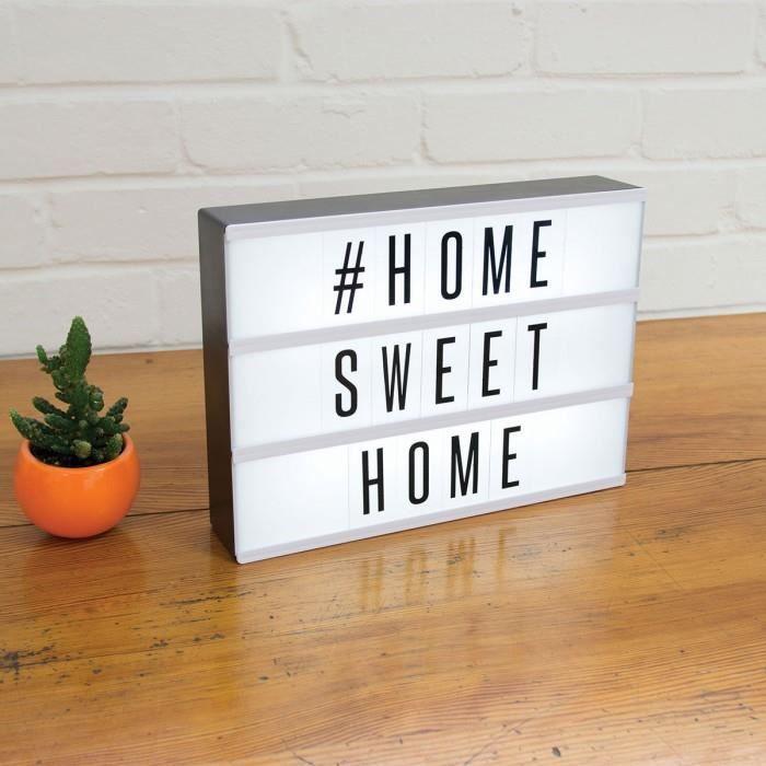 tableau message lumineux personnalisable blanc achat. Black Bedroom Furniture Sets. Home Design Ideas