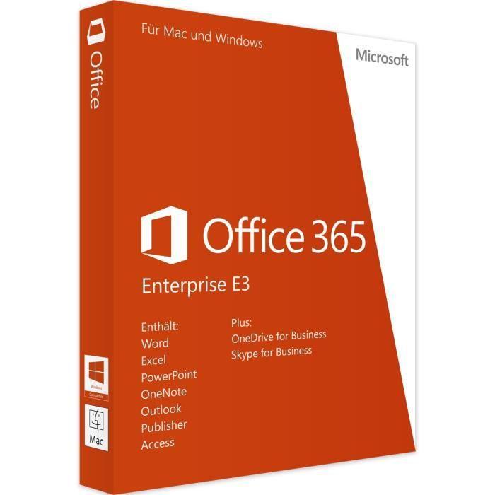 UTILITAIRE À TÉLÉCHARGER Microsoft Office 365 Enterprise E3