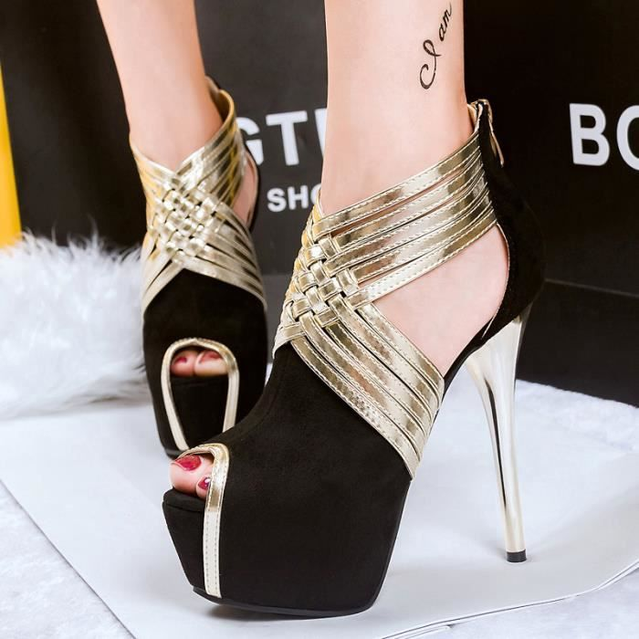 plate-forme talons sexy chaussures pour femmes ...