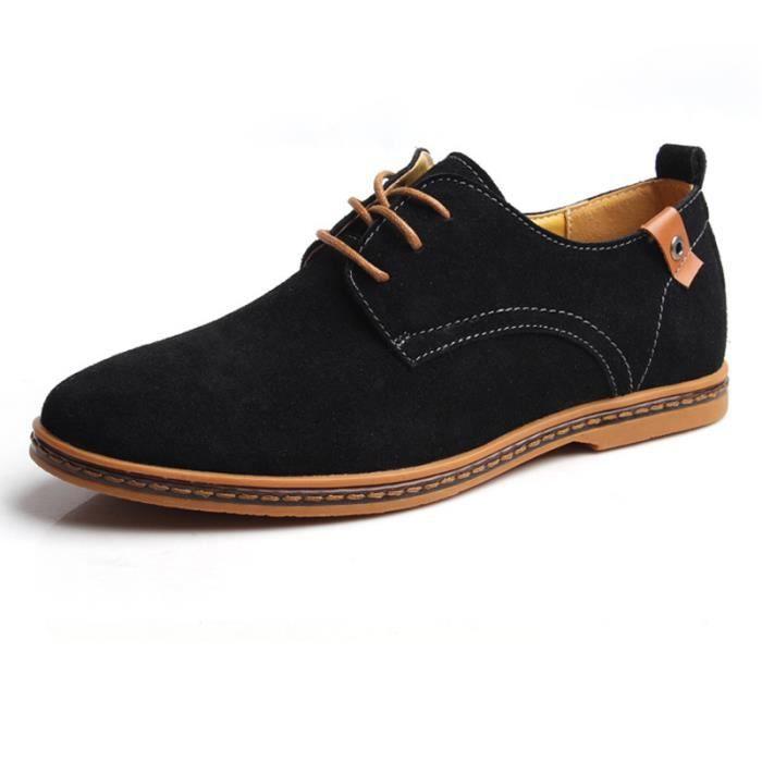 Chaussures de ville homme cuir Suede DERBY Noir