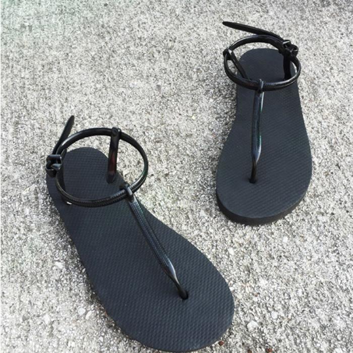 Sandales Femmes Mode souple Décontractée Feutrée Chaussures plates rmzUp7LD