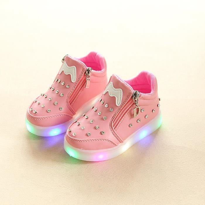 Colorful LED lumières enfan chaussures mignonne... 17iAiUnrt4