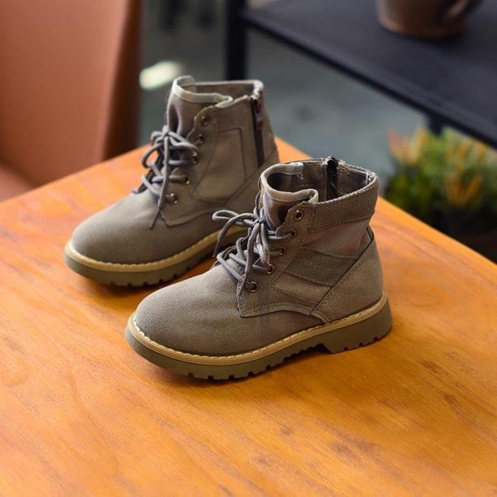 Bottes Toile de mode pour enfants unisexe Martin boots
