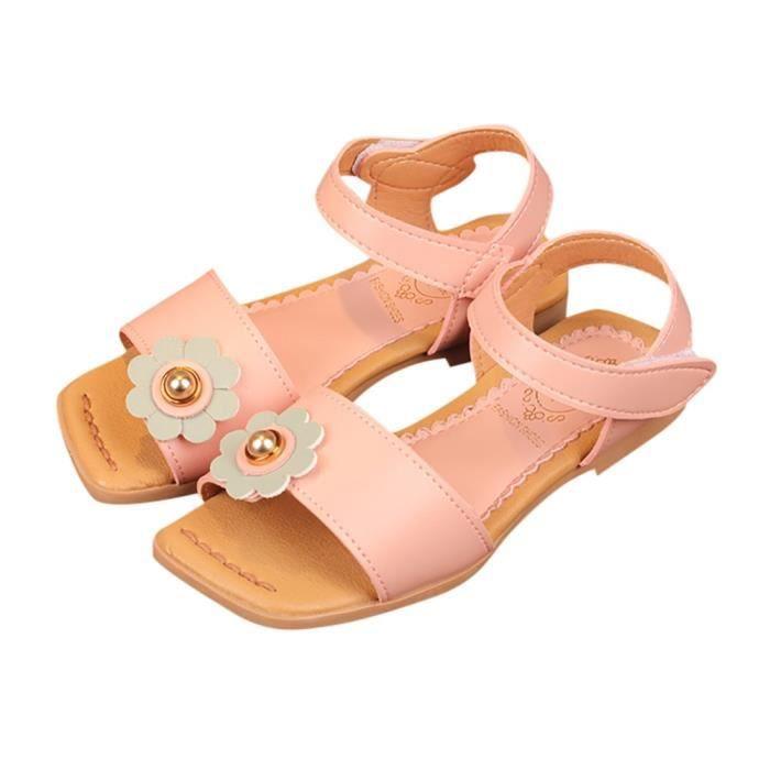 812c8d94355a3 exquisgift®Mode Fleur Sandales Plage Princesse Souliers Chaussures Loisirs  pour Enfant Filles Rose SCH80320838PK