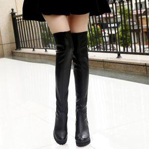 bottes femme hauteur genoux en cuir achat vente pas cher soldes d s le 10 janvier cdiscount. Black Bedroom Furniture Sets. Home Design Ideas