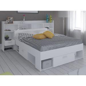 tete de lit avec rangement blanc achat vente tete de lit avec rangement blanc pas cher. Black Bedroom Furniture Sets. Home Design Ideas