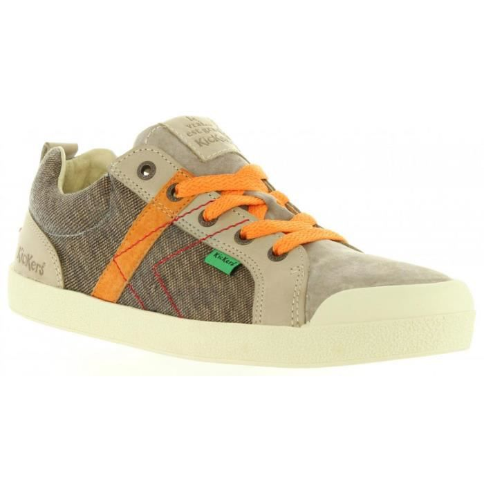 Chaussures pour Garçon KICKERS 469440-30 TRANKILOU 91 MARRON CLAIR