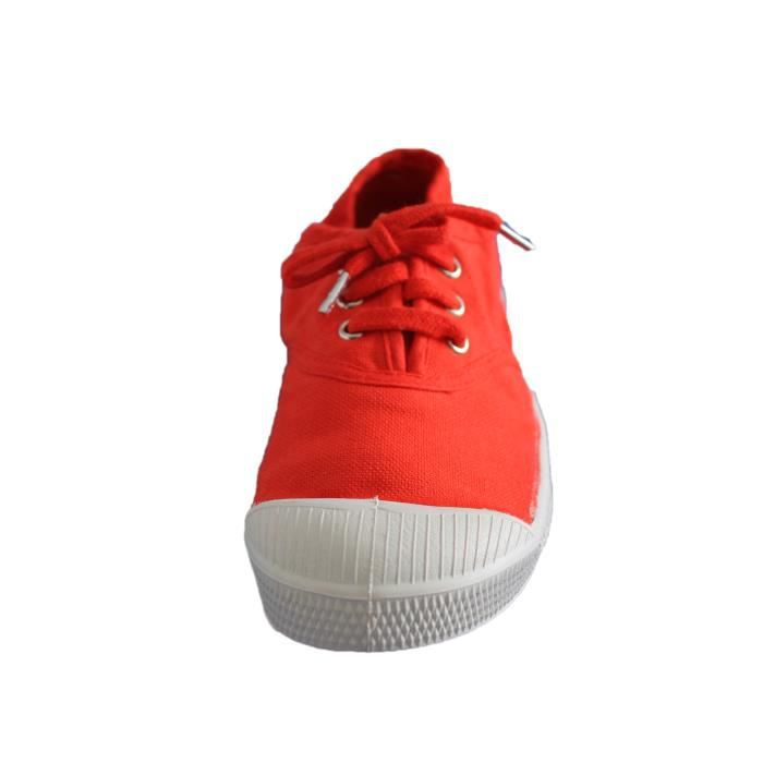 tennis bensimon à lacets orange fille ou garçon