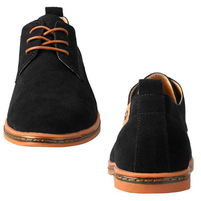 Chaussures cuir Noir ville homme Suede de DERBY HTrnwBqfH4