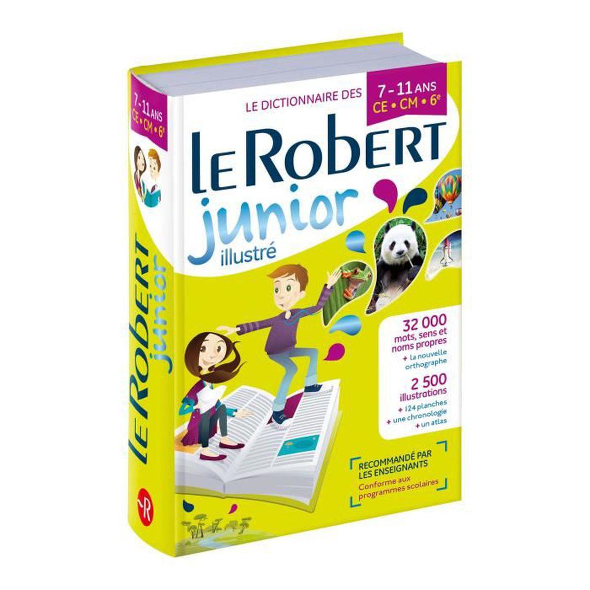 LIVRE D'ÉVEIL Dictionnaire Le Robert Junior illustre