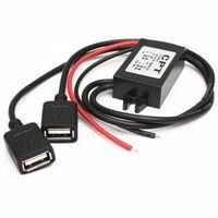 CONVERTISSEUR AUTO TOPTW 12V à 5V Double USB Chargeur Voiture Convert