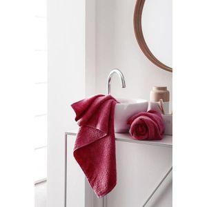 FINLANDEK Set de 2 Serviettes de toilette KYLPY 50x100 cm framboise