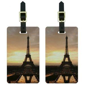 VALISE - BAGAGE Tour Eiffel Paris Hommes au coucher du soleil Etiq