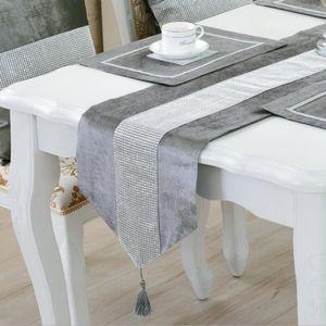 CHEMIN DE TABLE Étincelant Strass Linge Chemin de Table Nappe Napp