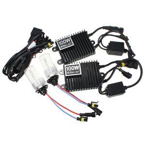 PHARES - OPTIQUES LED Ampoules 100W   12000K   9006  HID Kit de conv