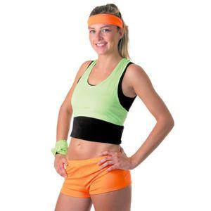3a3785a34d BIJOUX DÉGUISEMENT Mini Short Fluo Orange Femme - Taille Unique