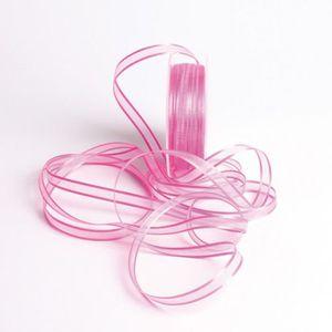 1pc Ruban Tissu Organza Rose Fuchsia 10mm 4558550007872 Echeveau 90 Mètres