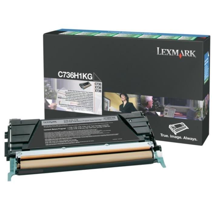 LEXMARK Cartouche de toner C736, X736, X738 - Noir- Haute Capacité 12.000 pages