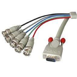 LINDY Câble VGA HD-15 à 5BNC Mâles - 5m