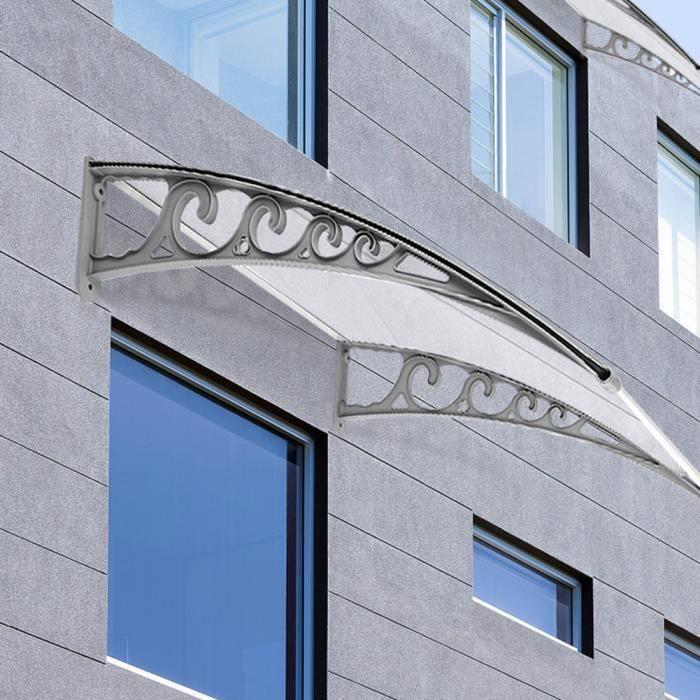 80120 Cm Auvent De Porte Entrée Marquise Semi Transparent Moderne