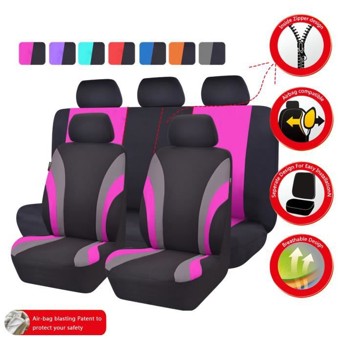 Housse siege auto universelle rose achat vente housse for Housse voiture rose