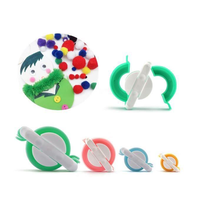 KIT DE COUTURE 4 Tailles SET à Fabriquer des Pompons Clover Appar