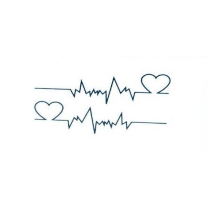 Tatouages temporaires battements de coeur