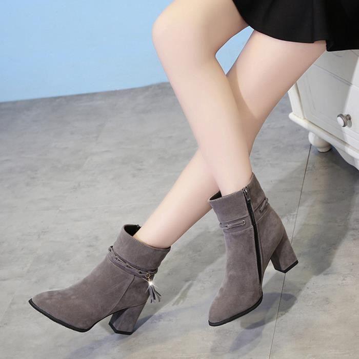 Bottes de cheville à talons hauts Chaussures à talon pointu E11