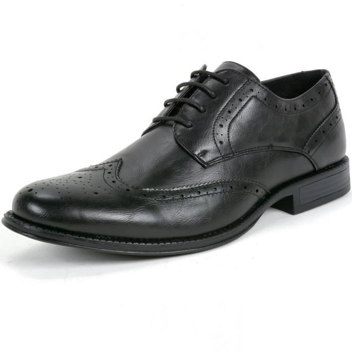 Zurich Robe Hommes Chaussures à lacets Brogue Médaillon Wing Tip Oxfords IUU46 Taille-39