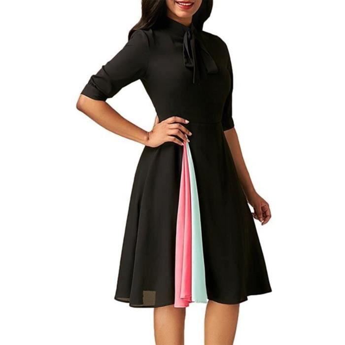 fdb13a899924 Vêtement Femme- Robe - classique sombre Noir Noir - Achat   Vente ...