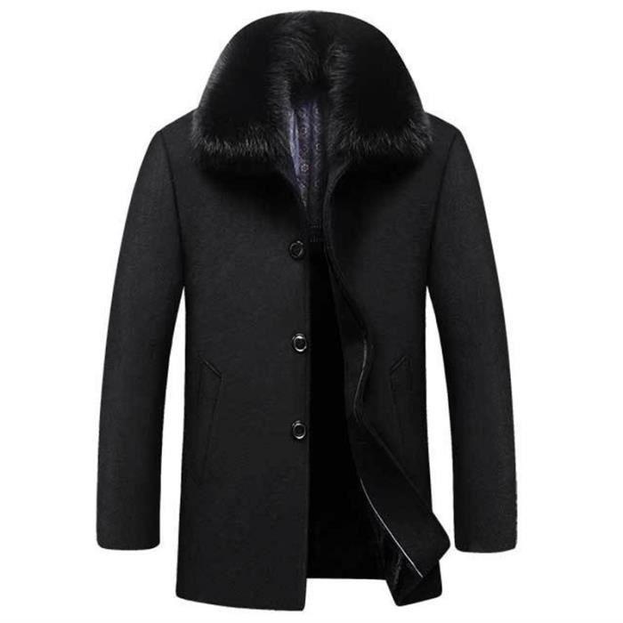 livraison gratuite 5bfe7 3addc Manteau Homme automne et hiver Grande taille en laine plus ...