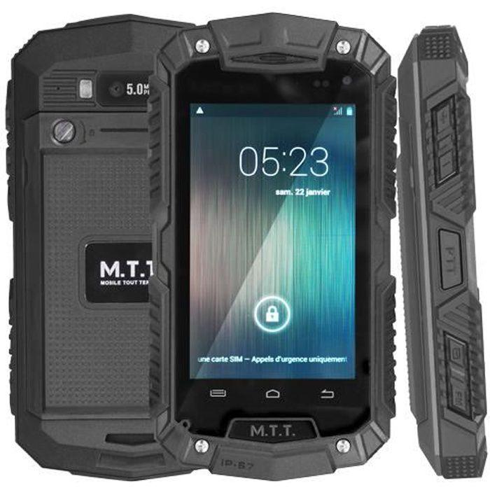 mtt smart robust noir durci tanche ip 67 achat t l phone portable pas cher avis et. Black Bedroom Furniture Sets. Home Design Ideas