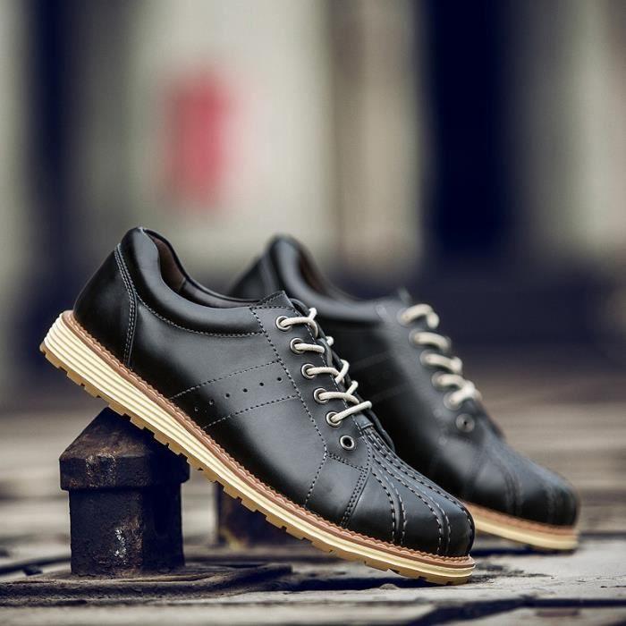 Bottes pour Hommegris 38 Automne Chaussures Shell Casual Mode Chaussures en cuir Martin (noir, gris, brun_412