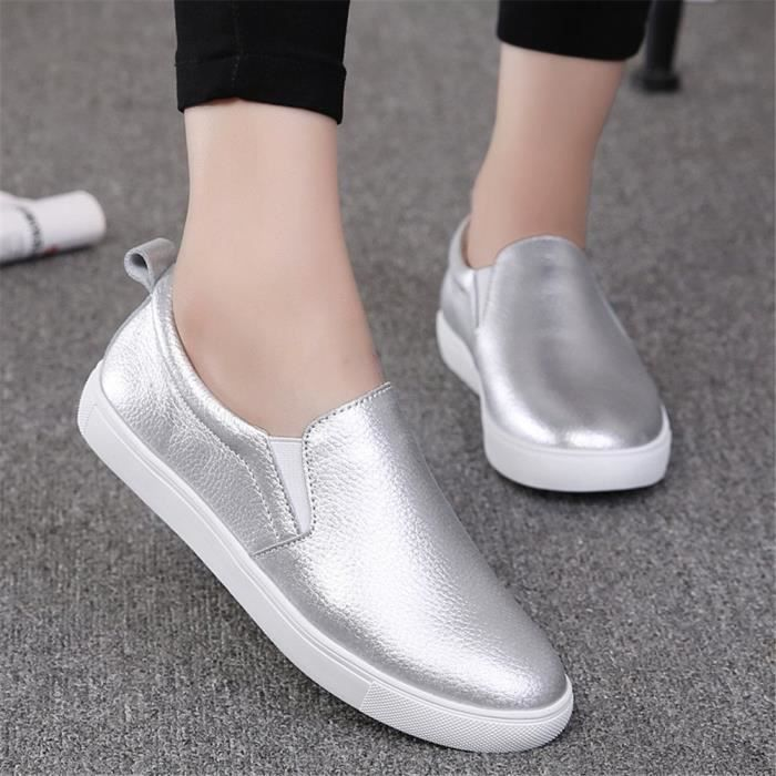 60743011fc48f Flats Shoes 1 Taille Sneakers On Summer Women s Loafers 3i6022 Leather Slip  Comfort 2 35 Driving ...