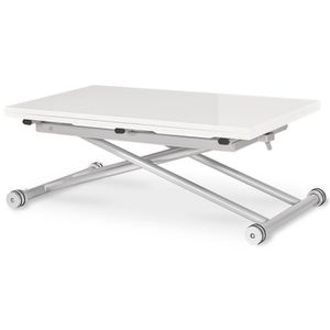 Table basse laque blanc achat vente table basse laque Table relevable blanc laque