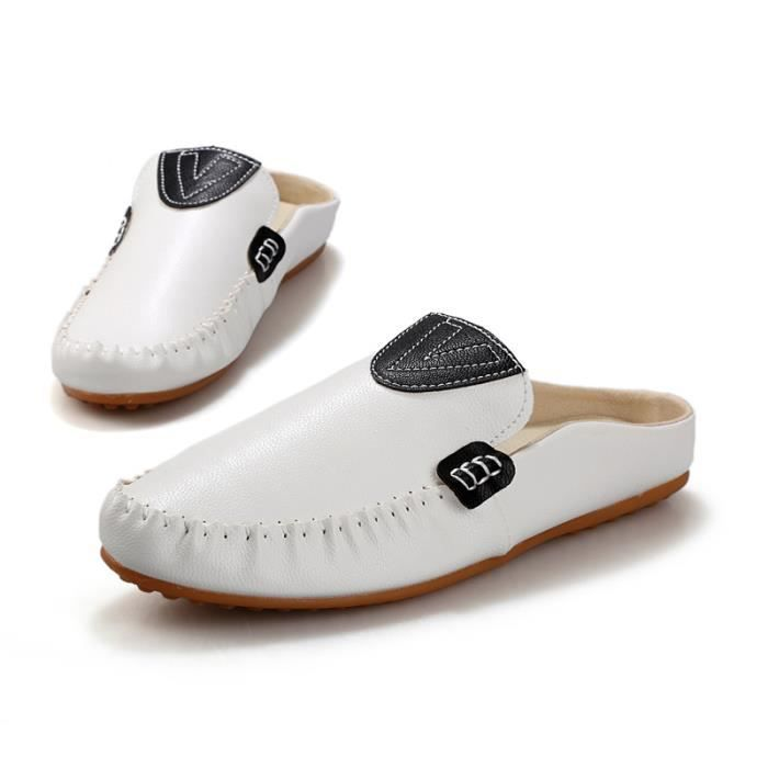 Round Toe Slip-on Flat Mocassins New Shoes AYOJH Taille-39 vNQkLi