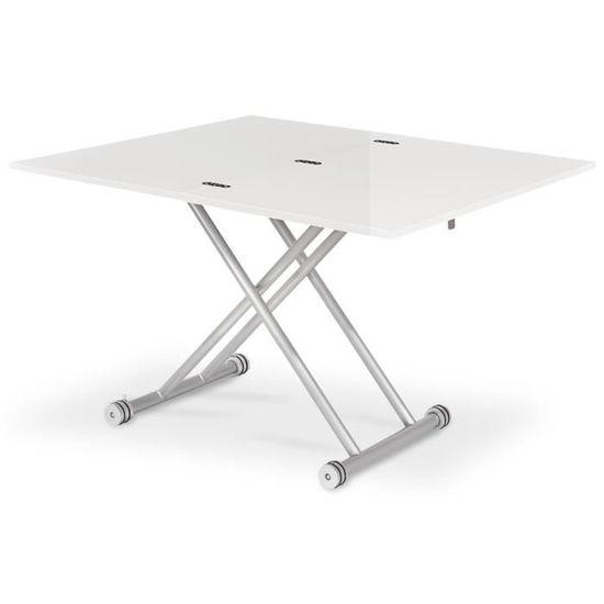 Table basse relevable Philadelphia Blanc laqué - Achat   Vente table basse  Table basse relevable Phila... - Cdiscount c881a0827926