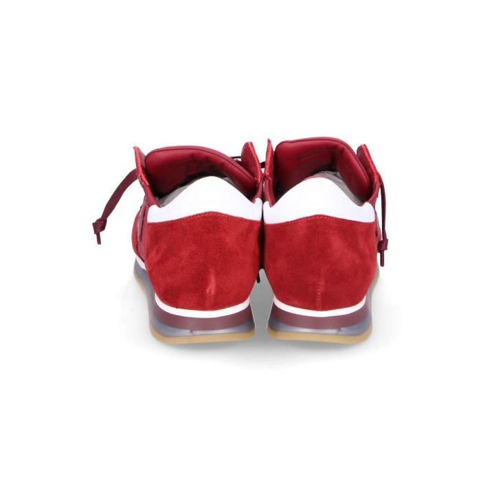 PHILIPPE MODEL HOMME TRLUW026 ROUGE SUÈDE BASKETS
