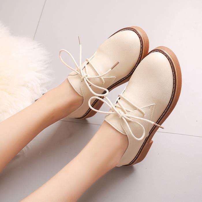 Bottes En Cheville friendprice595 Cuir Femme Casual Mode Dames Plat Court Pour Chaussures 8w4FOw
