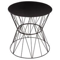 TABLE D'APPOINT Table à café Filaire Jym - Diam. 39,5 cm - Noir