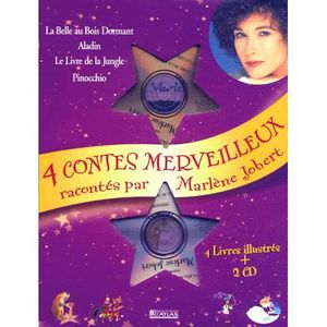 Livre 3-6 ANS 4 contes merveilleux coffret 4 volumes avec 2 CD :