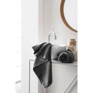 FINLANDEK Set de 2 Serviettes de toilette KYLPY 50x100 cm noir
