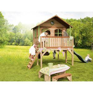 Cabane enfant bois Sophie - 3.77 x 2.00 x 2.74 m