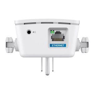LINKSYS RE6700 Répéteur WiFi Dual Band AC1200 avec prise intégrée + connection audio compatible IOS, Android, DLNA