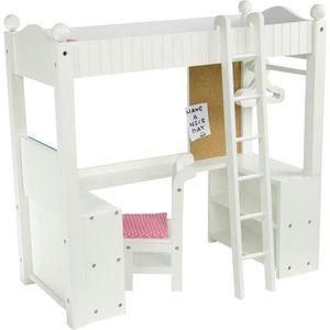 NURSERIE Lit superposé mezzanine avec bureau et rangement p