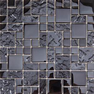 CARRELAGE - PAREMENT 1 m² Carrelage mosaïque en verre.  Lisse et textur