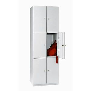 ARMOIRE DE BUREAU Vestiaire - 6 casiers de 1800 x 600 x 500 mm - por