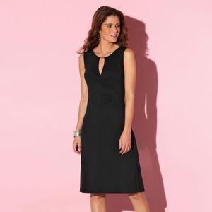 60460d7c107e1 Robe drapée sans manche BLANCHEPORTE Noir Noir - Achat   Vente robe ...