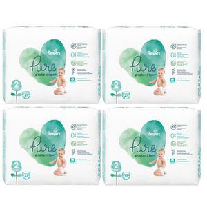 COUCHE 108 Couches Pampers Pure Protection Taille 2 Mini